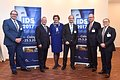 European Trade Press Conference on 6 December 2016 - Dr. Heibach (VDDI/GFDI), Breuer (VDZI), Hamma (Koelnmesse), Dr. Rickert (VDDI), Dr. Engel (BZÄK), Dr. Landi (CED) (v.l.nr.)